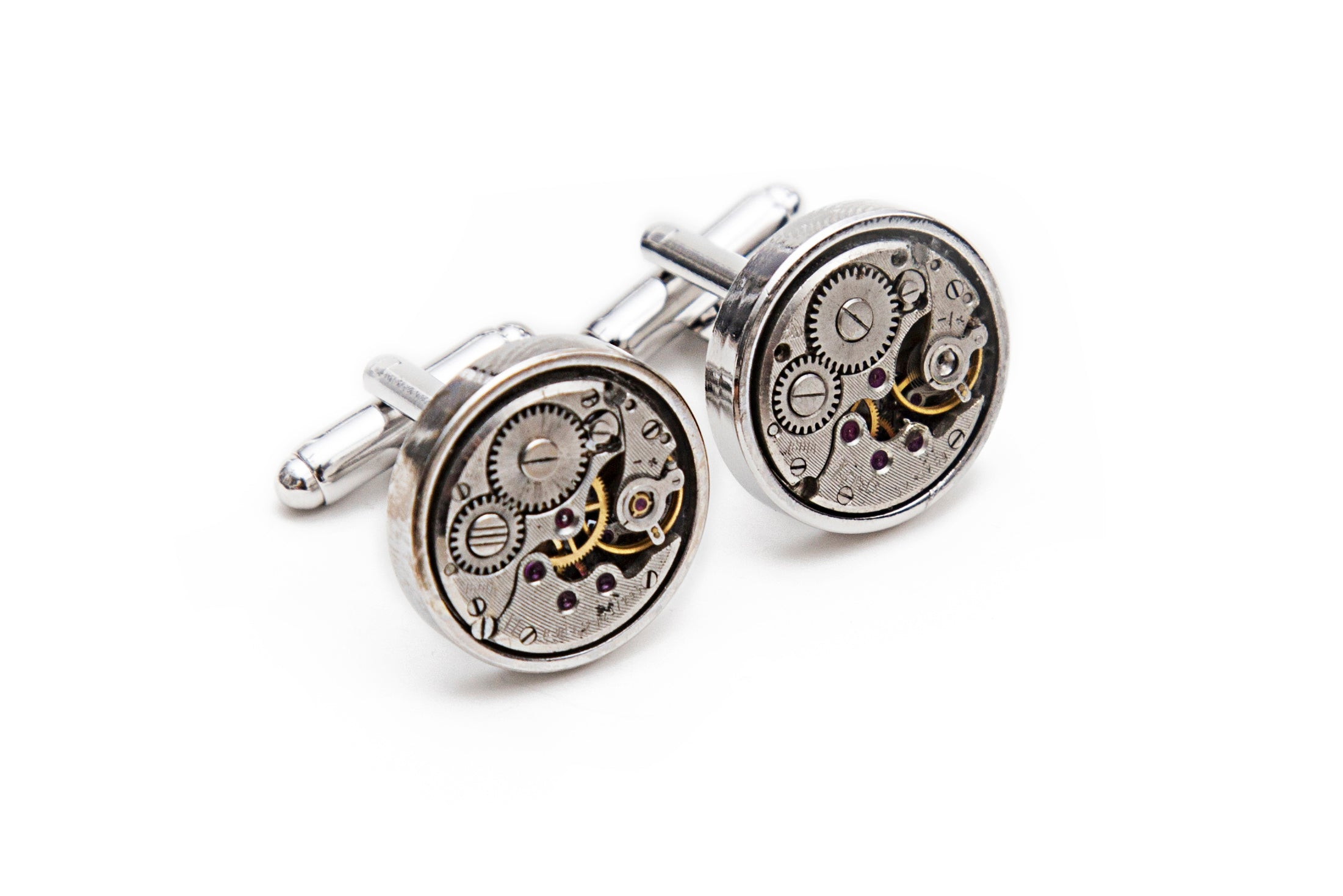 Watch Gear Cuff Links - Round