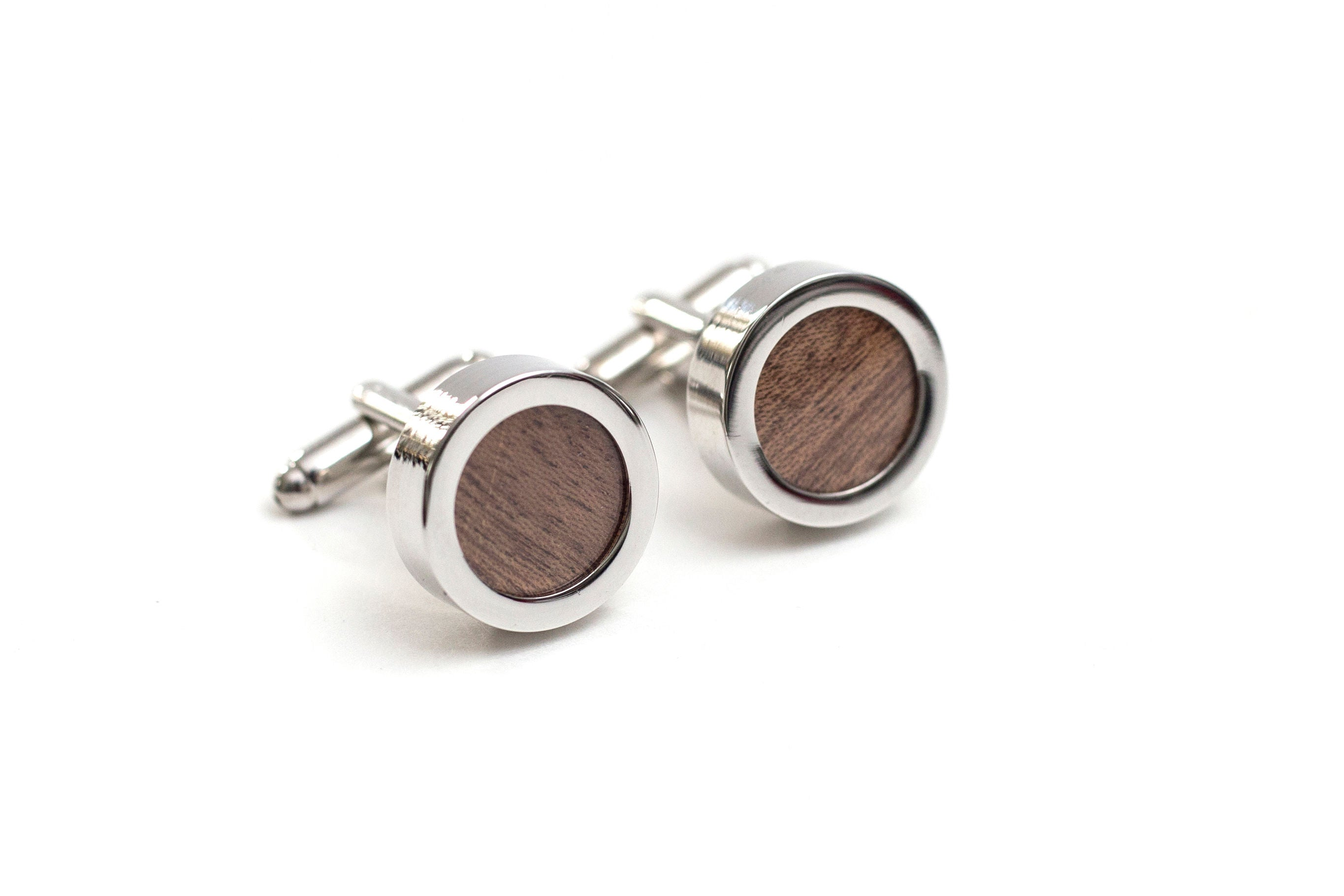Wood Grain Cuff Links