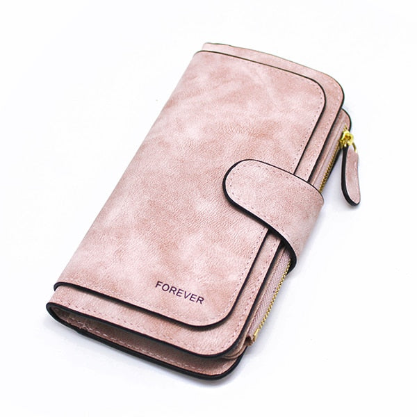 Leather Zipper Long Wallet Card Holder Viconchic(Buy 2 Get 20% Off Using Code: VC20)