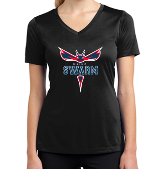 Maine Sport-Tek Ladies V-Neck Dri-Fit Tee