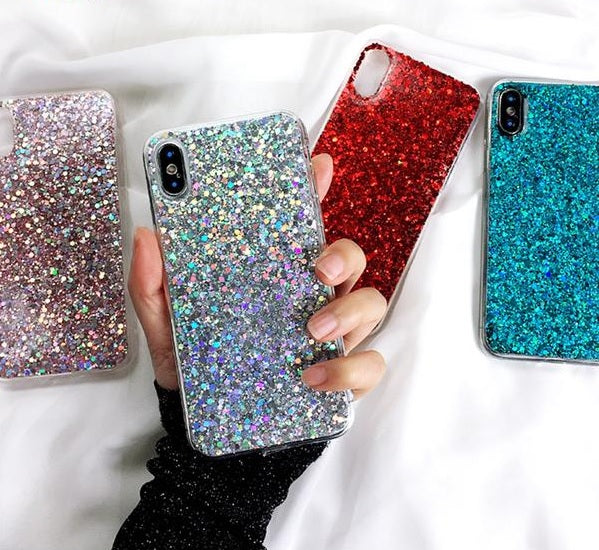 coque silicone paillettes iphone x
