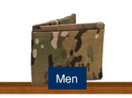 Shop for handmade custom mens wallets, purses and bags made of military uniforms