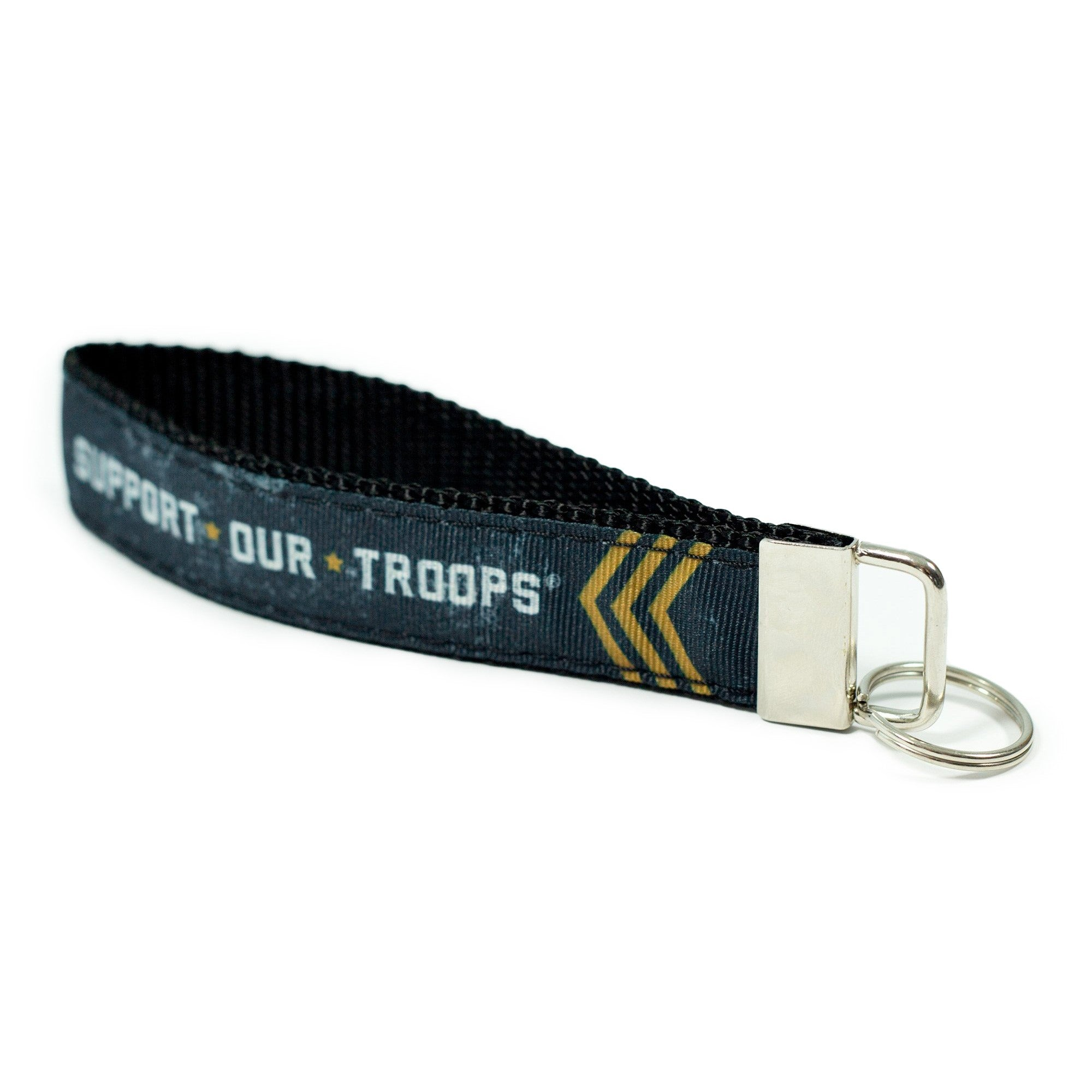 Support Our Troops Keychain-Black