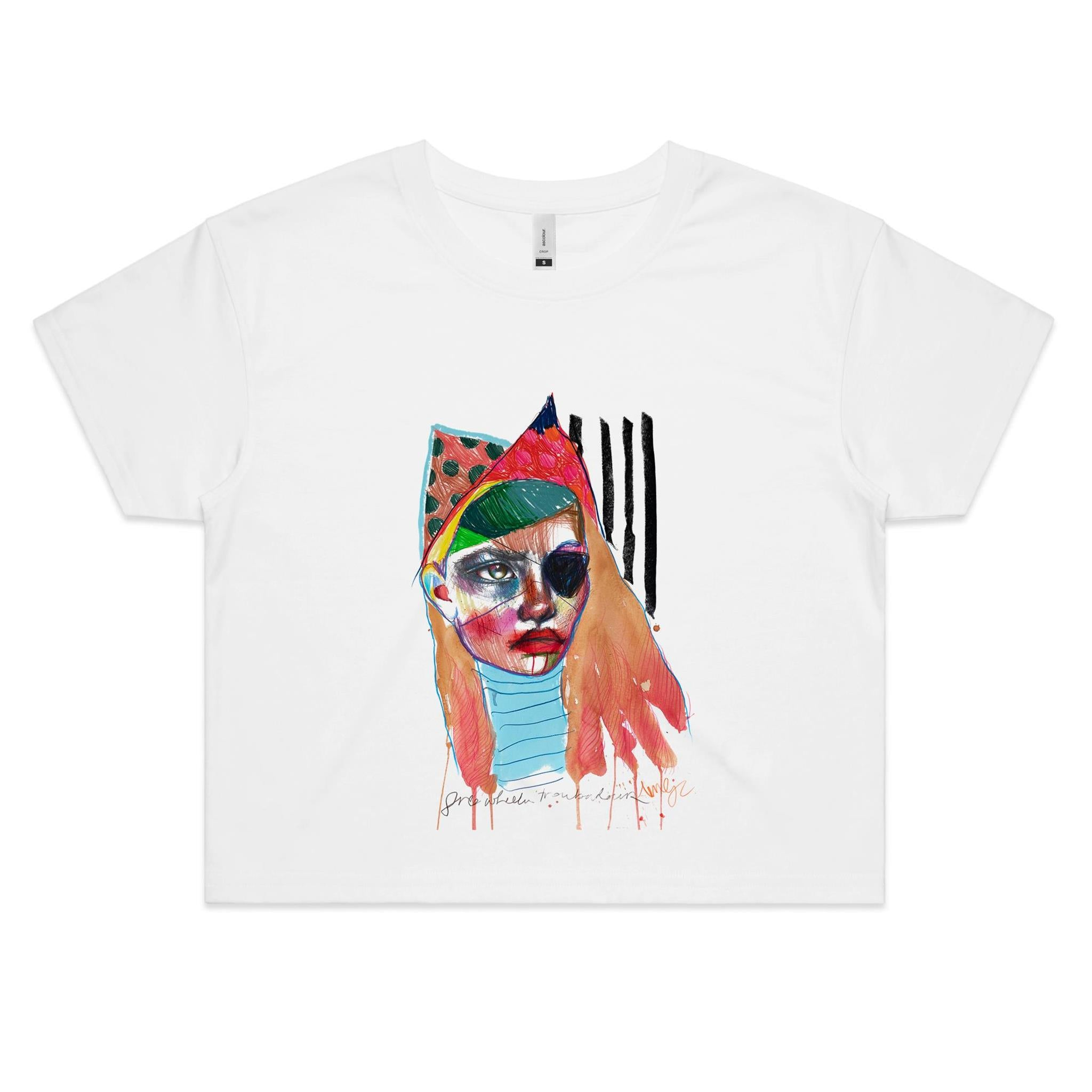 'Pirate' AS Colour Women's Crop Tee