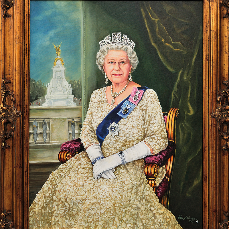 Story of a  2012 portrait in oils of Queen Elizabeth II by British artist Helen Anderson
