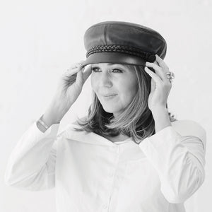 John Lennon Authentic Leather Cap - designed by Helen Anderson - NEW RELEASE FOR 2019