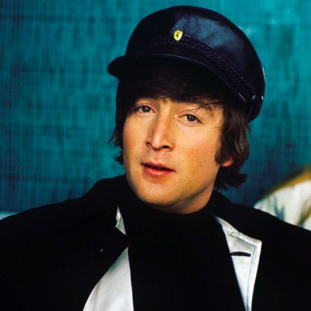 John Lennon Authentic Leather Cap Designed By Helen Anderson New R