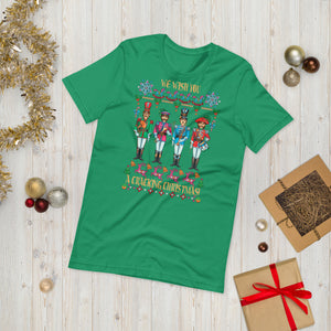 A CRACKING CHRISTMAS WITH THE BEATLES Unisex Luxe T-Shirt with stretch