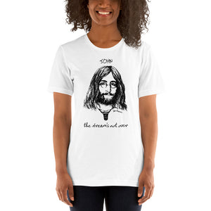 THE DREAM'S NOT OVER Unisex Luxe T-Shirt with stretch