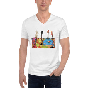 GUITARHEADS Unisex V-Neck T-Shirt