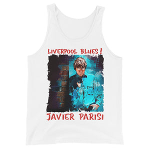 JAVIER PARISI: BOLD STREET BLUES Unisex Tank Top