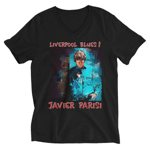 JAVIER PARISI: BOLD STREET BLUES Unisex V-Neck T-Shirt