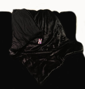 'Jet Black' Weighted Throw Blanket 1.5m x 90cm