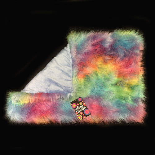 *SALE* 2.5kg 'Rainbow Wave' Weighted Lap Blanket / Small (Ready-made)