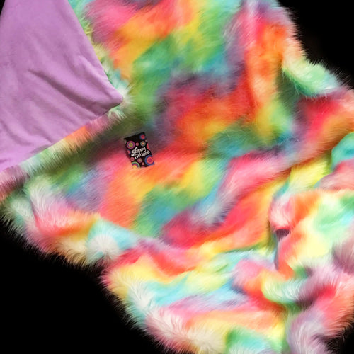 'Rainbow Sherbet' Weighted Double Blanket 1.8m x 1.5m