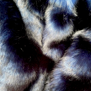 'Midnight Blue Luxe' Weighted Throw Blanket 1.5m x 90cm