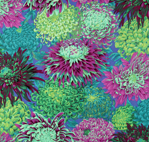 'Wild Chrysanthemums' Weighted Throw Blanket 1.5m x 90cm