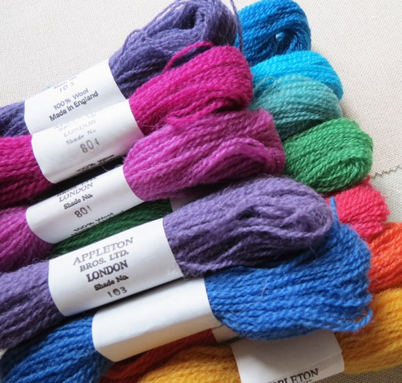 TAPESTRY WOOL, NEEDLEPOINT WOOL, CREWEL WOOL