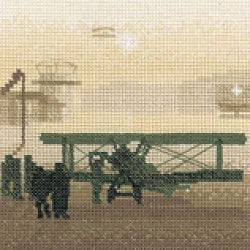 Aerodrome Cross Stitch Kit, Silhouettes, Heritage Crafts