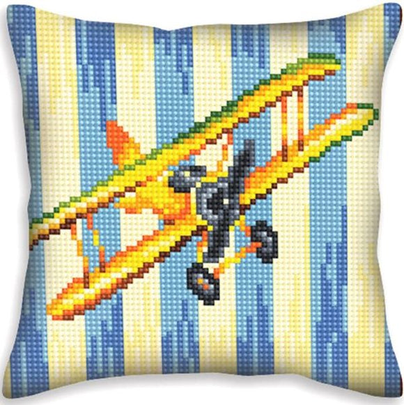 Aeroplane Nostalgia CROSS Stitch Tapestry Kit, Collection D'Art CD5400