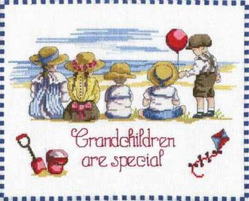 Cross Stitch Kit Grandchildren Are Special Counted Cross Stitch Kit FW19