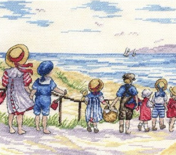 Cross Stitch Kit To The Beach We Go Counted Cross Stitch Kit FW24