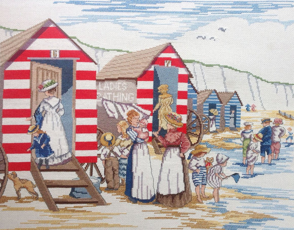 Ladies Bathing, Beach Huts Counted Cross Stitch Kit FW39