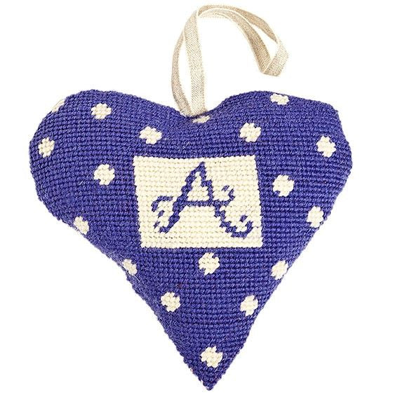 Tapestry Kit Purple Alphabet Initial Heart, Cleopatra's Needle