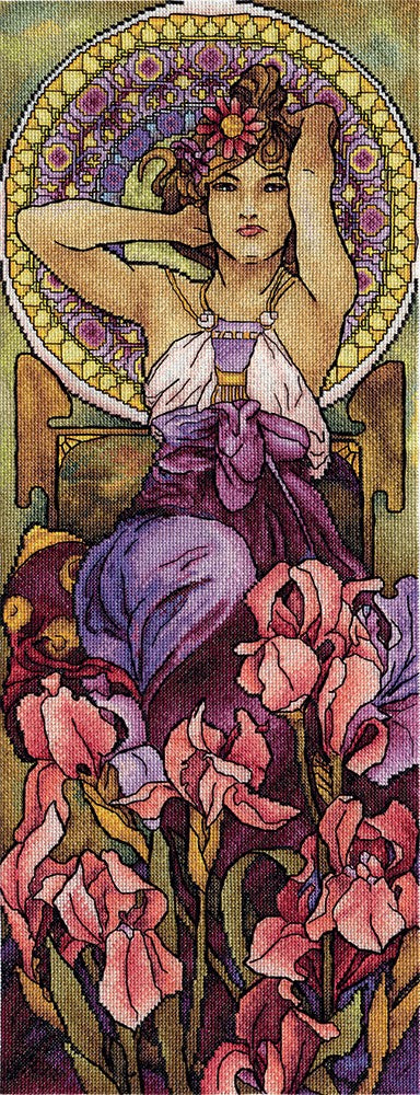 Amethyst by Mucha Cross Stitch Kit, Panna VH-1000