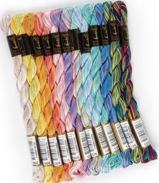 Anchor Perle Cotton/Pearl Cotton Embroidery Thread 5, Multicolour Set of 12