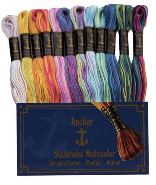 Anchor Stranded Cotton Multicolour Thread Pack of 12 -Anchor Variegated Set