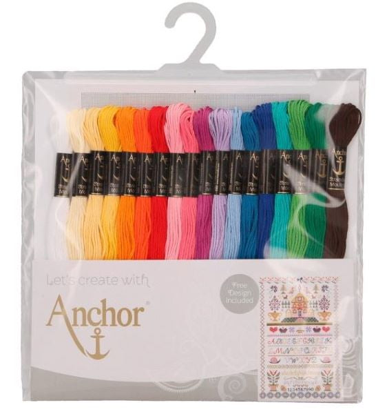 Anchor Stranded Cotton Thread Pack of 18 -Anchor Essentials Set