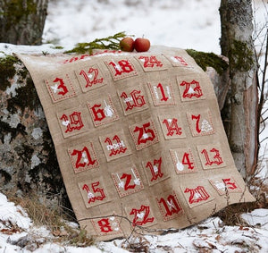 Christmas Advent Wall Hanging, Counted HALF Cross Stitch Kit