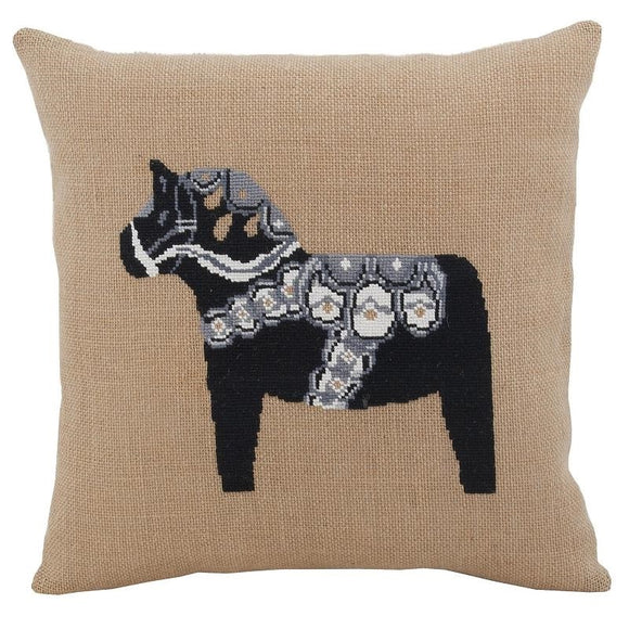 Cross Stitch Kit Swedish Dala Horse Cushion Cover, Counted Cross Stitch Kit
