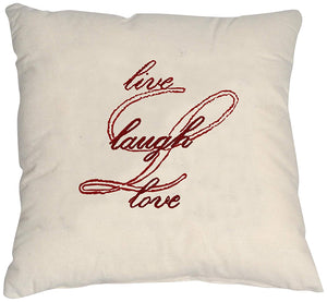 Embroidery Kit Live, Laugh, Love Red Modern Embroidery