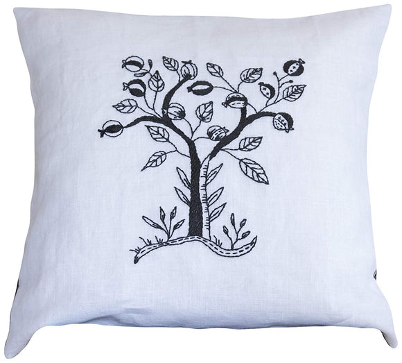 Embroidery Kit Mono Tree, Modern Embroidery Cushion Cover