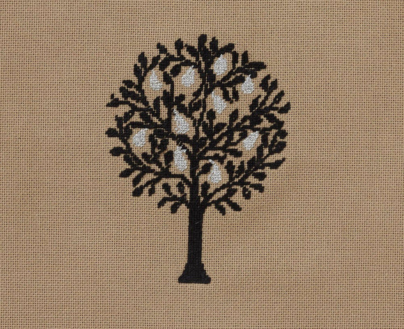 Cross Stitch Kit Pear Tree Panel, Counted Cross Stitch Kit