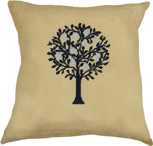 Cross Stitch Kit Pear Tree Cushion Cover, Counted Cross Stitch Kit