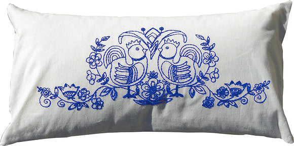 Embroidery Kit Scandinavia Blue, Modern Embroidery Cushion Cover