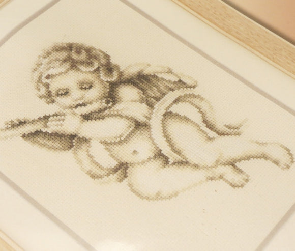 Cherub Angel with Flute Cross Stitch Kit, Vervaco pn-0021858