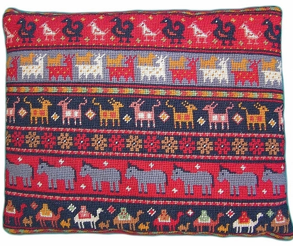 Animal Kelim Tapestry Kit, Needlepoint Kit, The Fei Collection