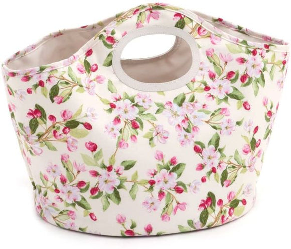 Apple Blossom Chic Needlework Bag, Knitting Organiser, Craft Bag
