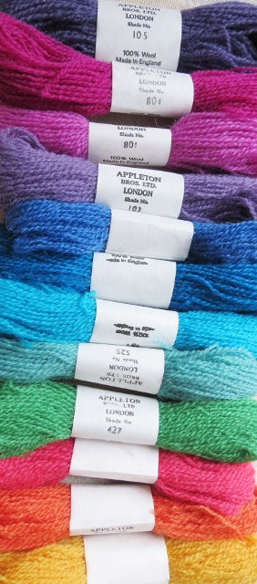 Appleton Tapestry Wools - Vibrant Set, 10m Skeins, Set of 12