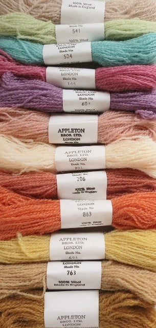 Appleton Tapestry Wools - Tonal Set, 10m Skeins, Set of 12
