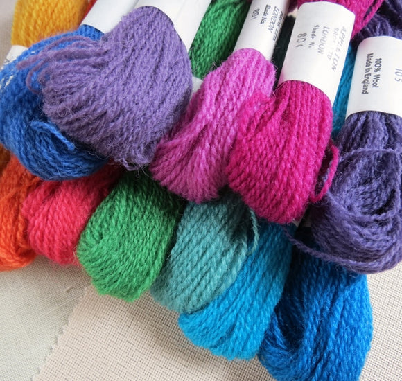 Appletons Crewel Wool, Vibrant Set of 12