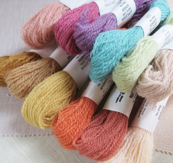 Appletons Crewel Wool, Tonal Set of 12