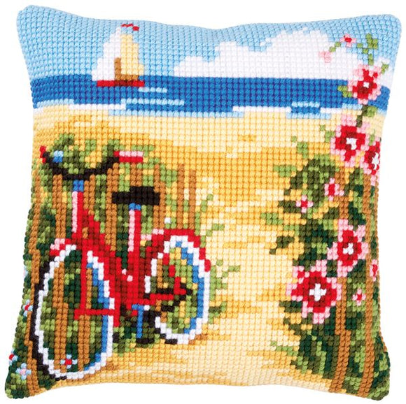 At the Beach CROSS Stitch Tapestry Kit, Vervaco PN-0148559