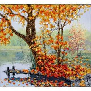 Autumn Comfort Bead Embroidery Kit, Bead Work Kit VDV, TN-1052