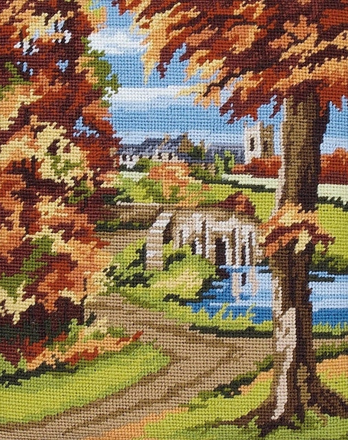 Autumn Scene Landscape Tapestry Kit Needlepoint, Anchor MR843