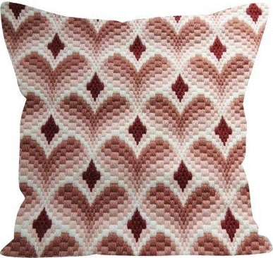 Bargello Rosa COUNTED Tapestry Needlepoint Kit, Designer's Needle